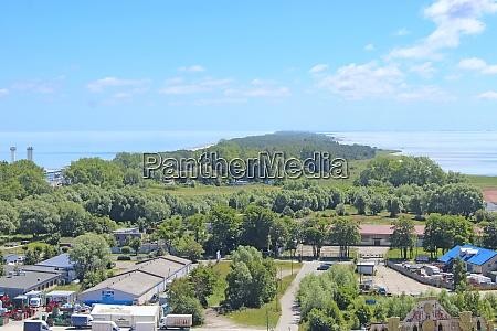 view of town of vladislavovo poland