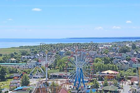 panorama of resort polish town with