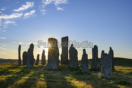 uk scotland callanish callanishstones at sunset
