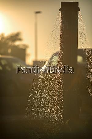 spain andalusia huelva beach shower at