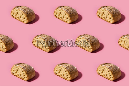 pattern of fresh loaves of bread