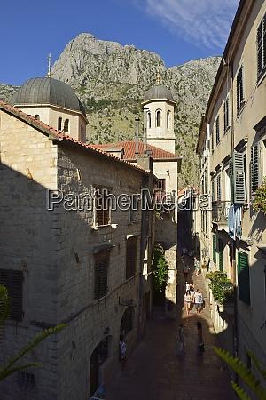 montenegro crna gora kotor tourists at