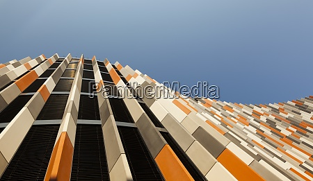 czechia prague facade of moderne office