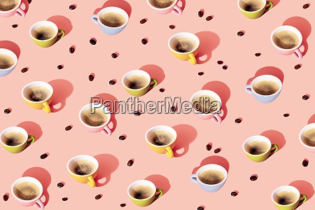 pattern of roasted coffee beans and