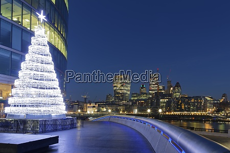 uk london skyline with office towers