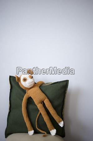 crocheted toy monkey