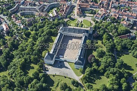 germany gotha aerial view of friedenstein