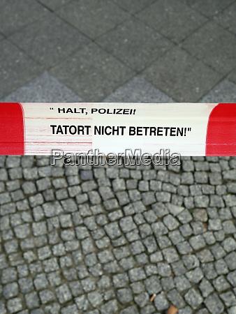 germany berlin cordoned crime scene