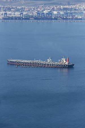 gibraltar bay of gibraltar tanker ship