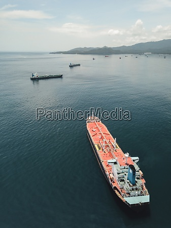 indonesia bali aerial view of oil