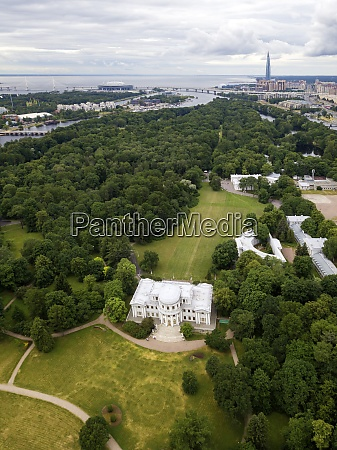 aerial view of yelagin palace big