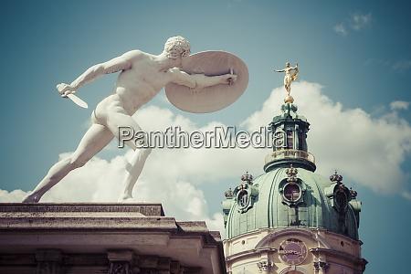 germany berlin statue at charlottenburg palace