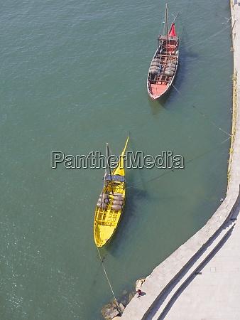 portugal porto douro river rabelo boats