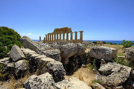 italy sicily province of trapani selinunt