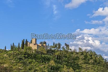 italy umbria gubbio the old castle