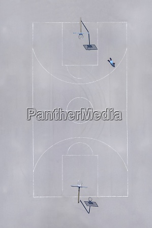 basketball ground top view