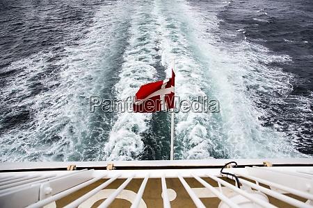 denmark danish flag on ferry on