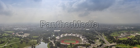 germany munich panoramic aerial view of