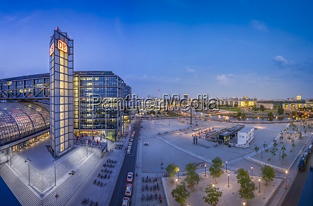 germany berlin central station and washingtonplatz