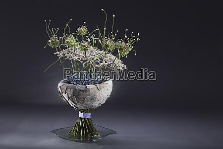 floral arrangement of musa poaceae allium