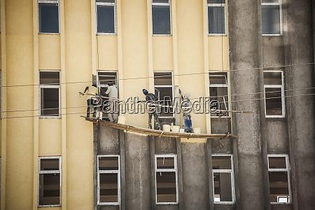 ethiopia addis ababa four men painting