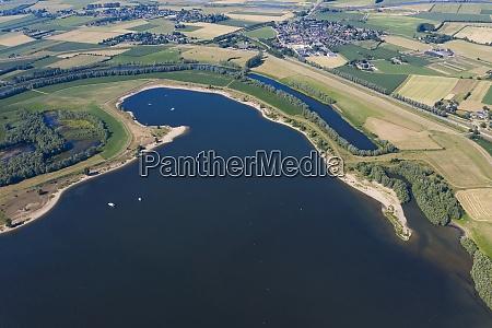 aerial view of de bijland lake