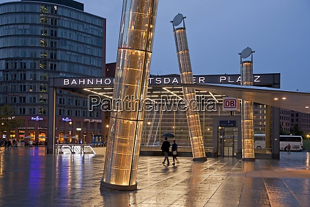 germany berlin station and lamps at