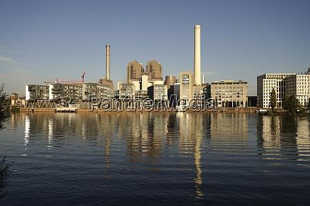 germany frankfurt mainova power station at