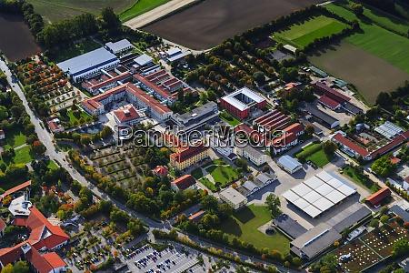 germany bavaria aerial view of landshut