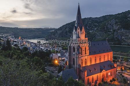 germany north rhine westphalia oberwesel church