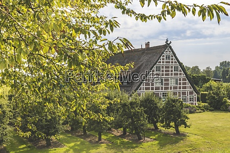 germany hamburg francop old half timbered