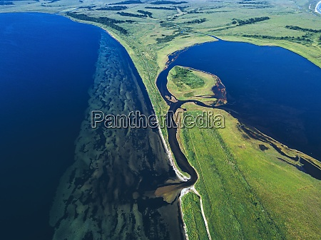 aerial view of novgorod bay and
