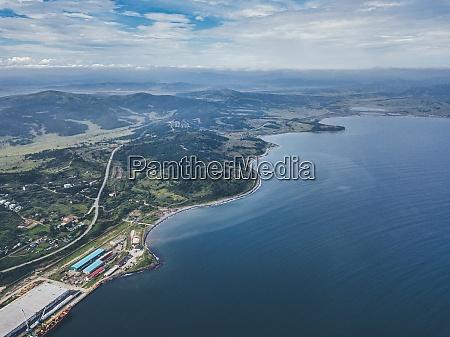 russia primorsky krai zarubino aerial view