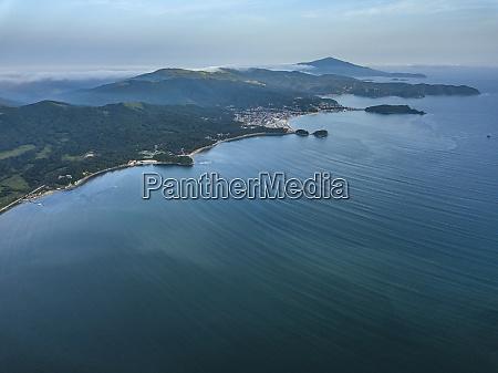 russia primorskykrai andreyevka aerial view of