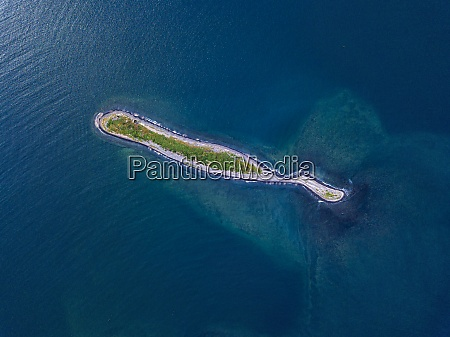 aerial view of small island in