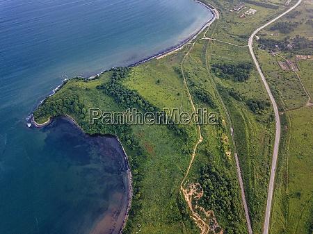 russia primorskykrai zarubino aerial view of