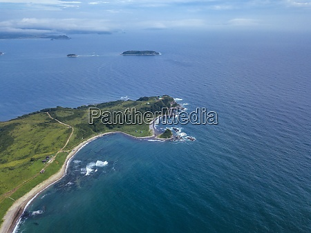 aerial view of cape gakkel surrounded