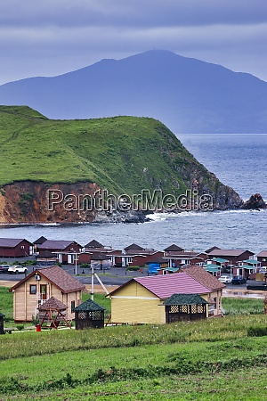russia primorsky krai fishing village on