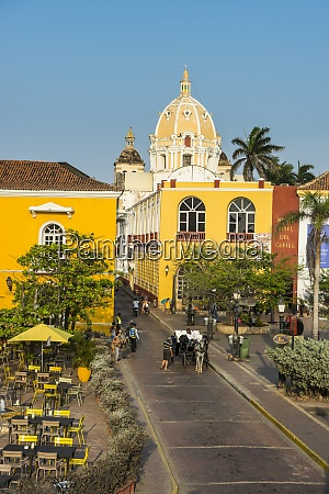 spain cartagena old town colonial architecture