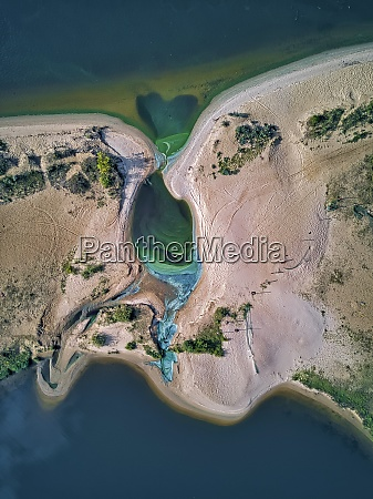 aerial view of green algae by