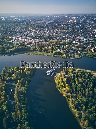 aerial view of city by kotorosl