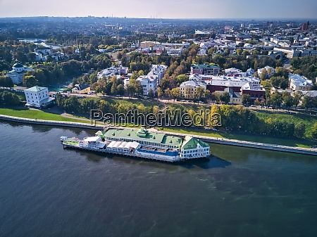 aerial view of city by volga