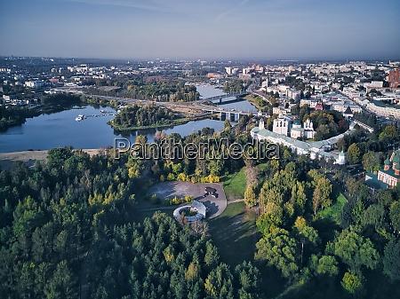 aerial view of yaroslavl museum reserve