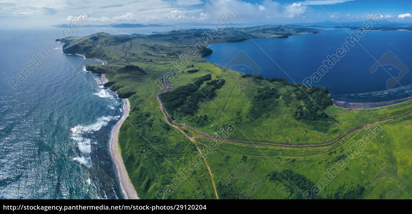 aerial, panorama, of, green, coastal, landscape - 29120204