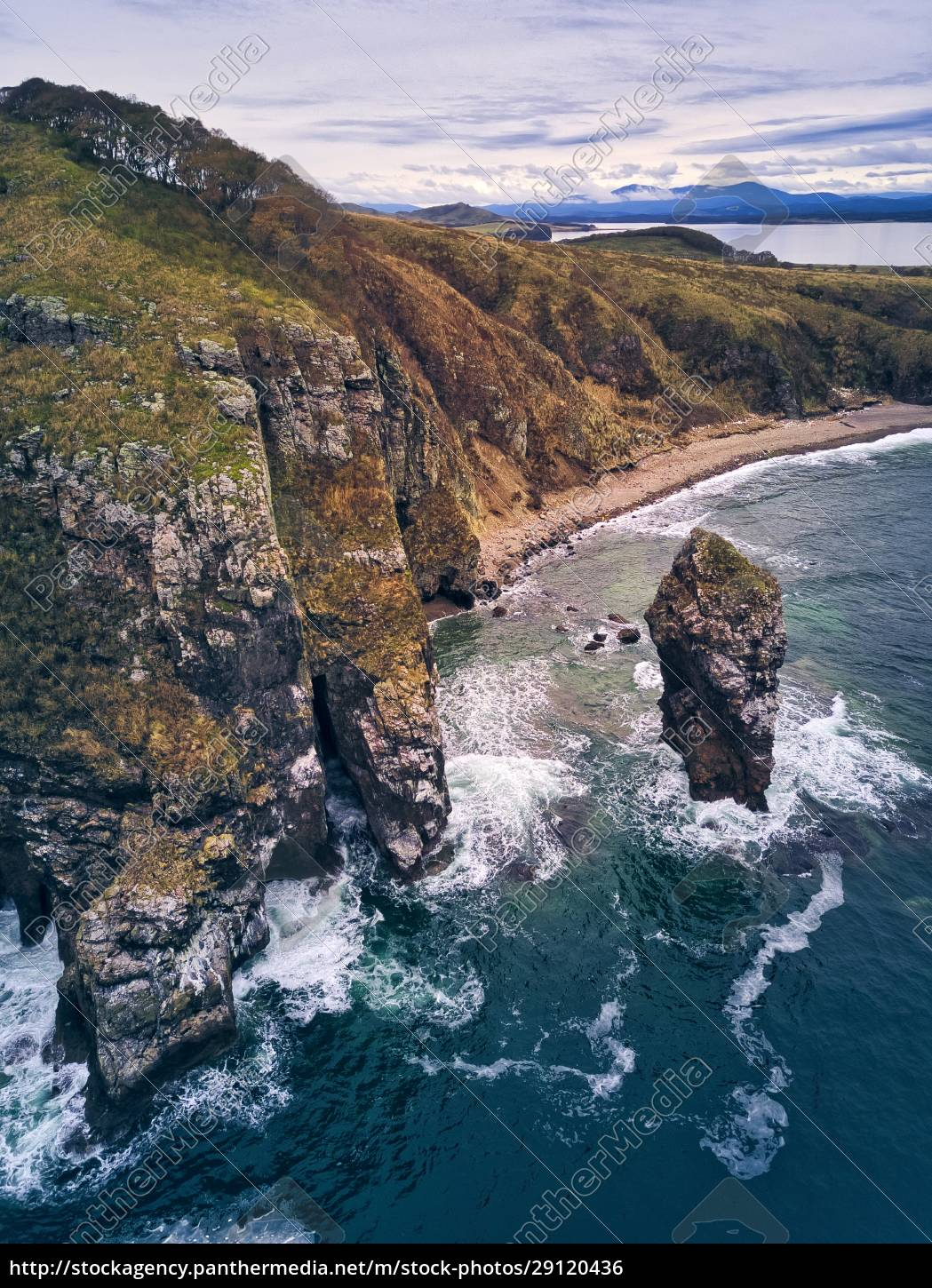aerial, view, of, cliff, by, sea - 29120436
