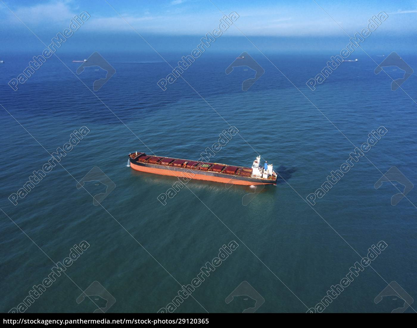 aerial, view, of, container, ship, sailing - 29120365