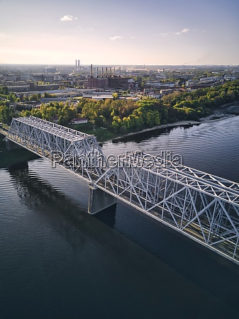 metallic, railway, bridge, over, volga, river - 29120711