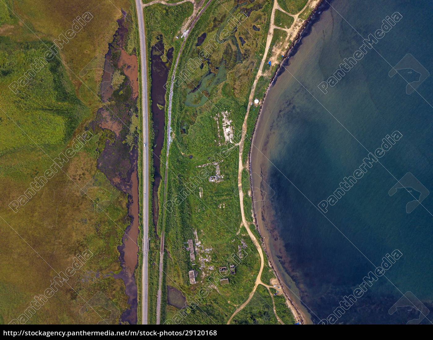 russia, , primorsky, krai, , zarubino, , aerial, view - 29120168