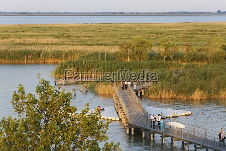 austria burgenland lake neusiedl people on