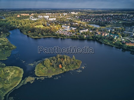 aerial view of bethany pond by